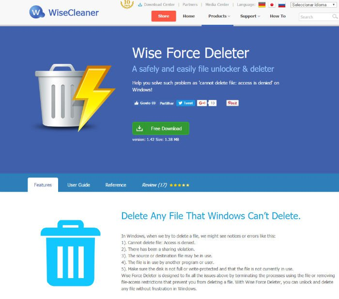 Passo 3 - Wise Force Deleter_